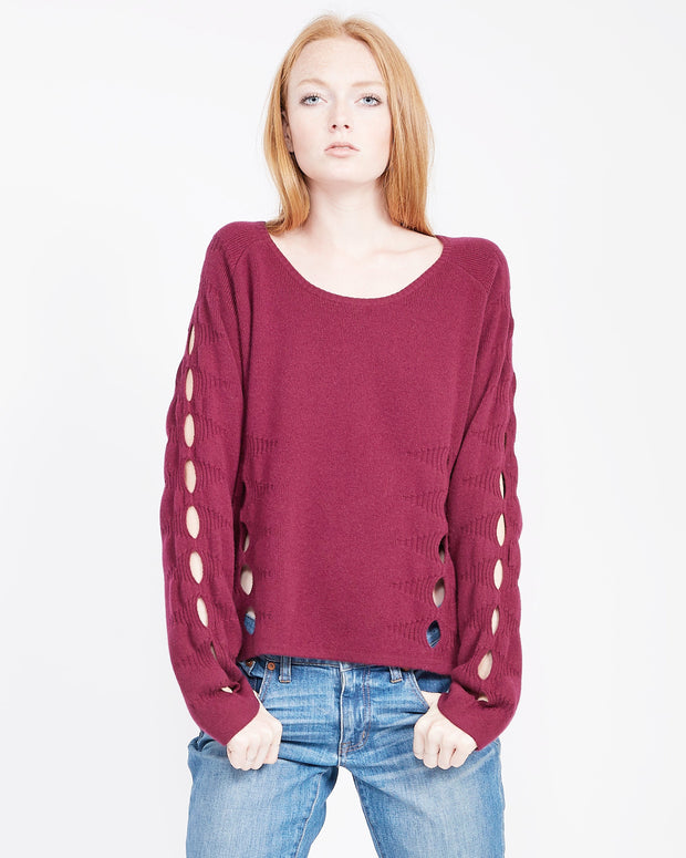 scoop neck sweatshirt