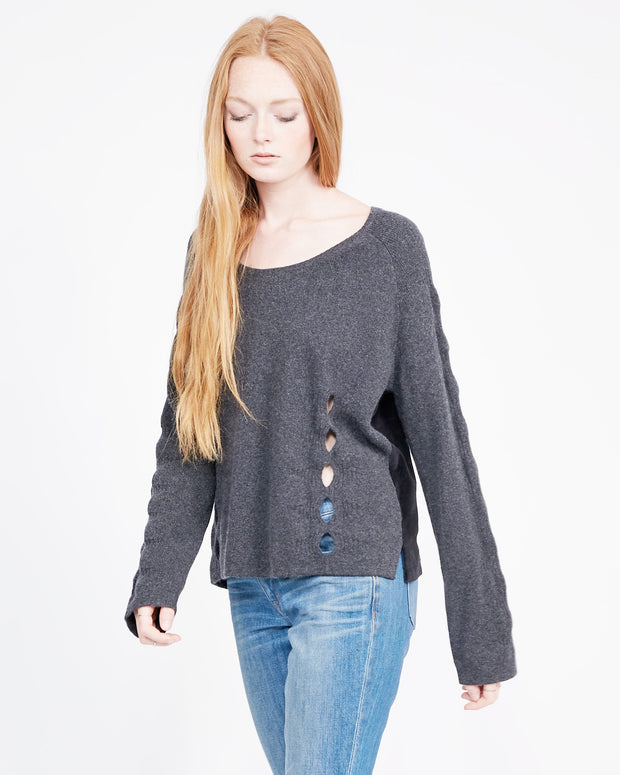 Cashmere scoop neck sweatshirt winter