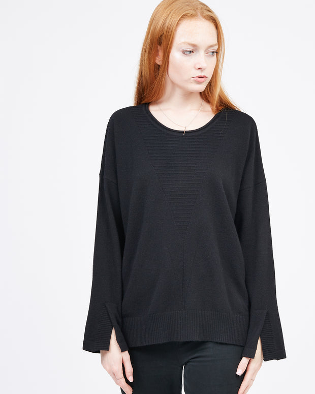 Women's Black Cashmere Sweater