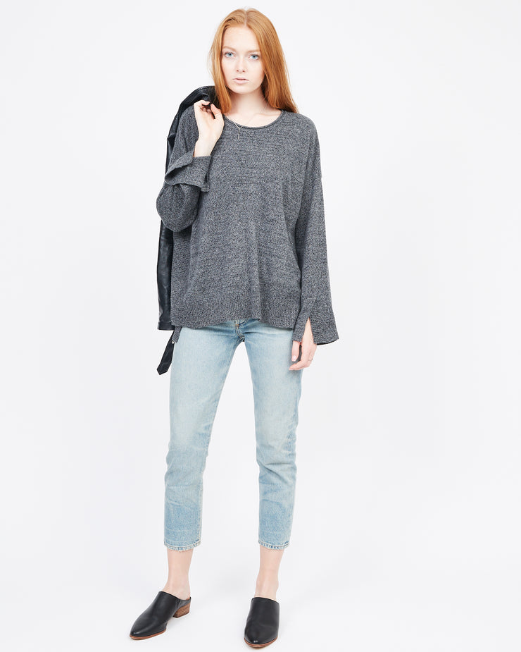 Heather Grey Multi Stitch Sweater