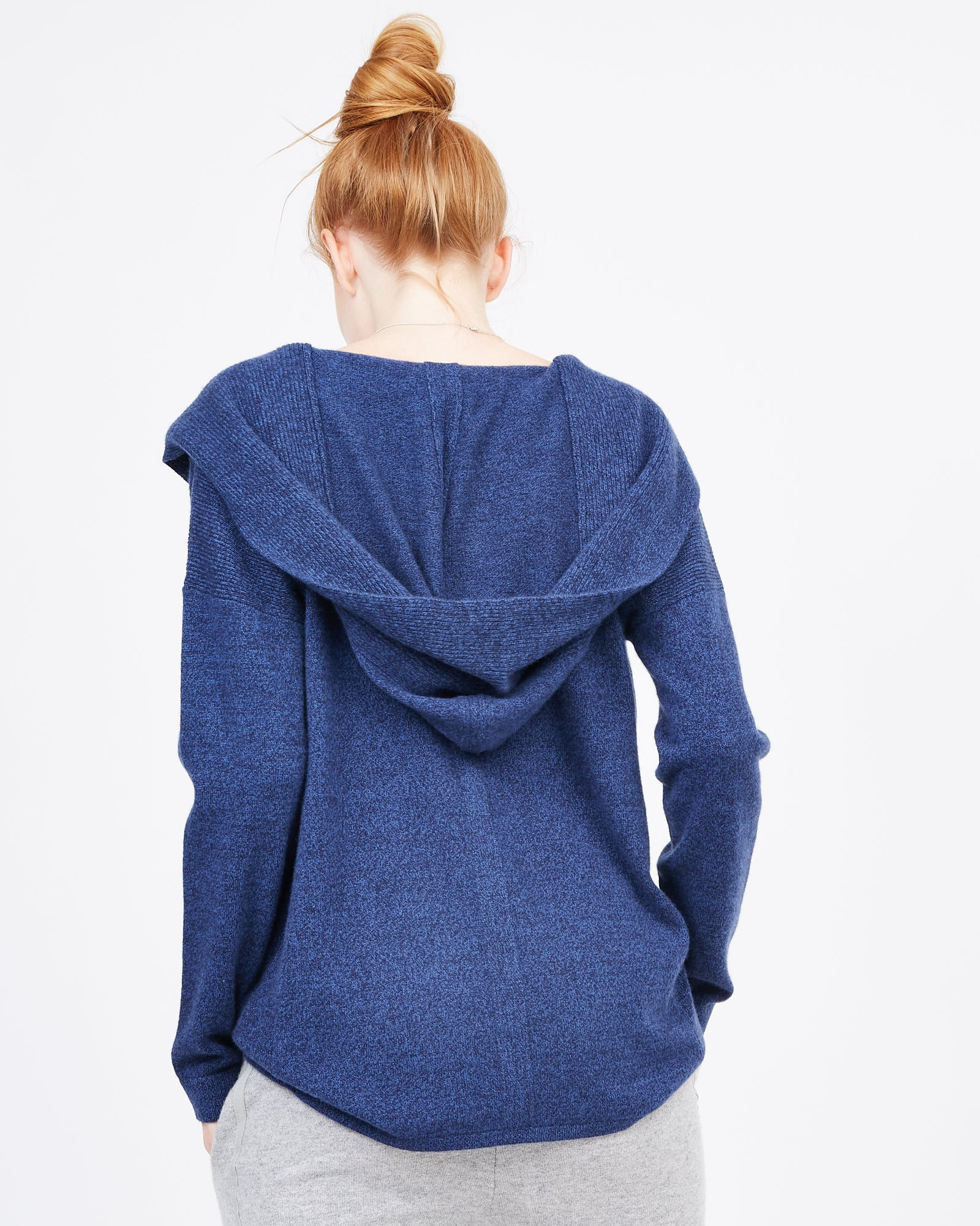 Hooded Cashmere Sweater with Deep V