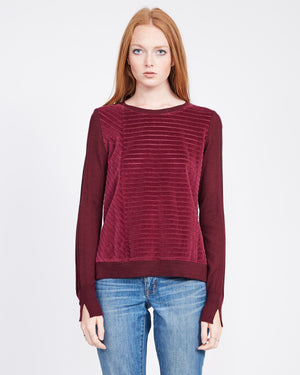 Womens velvet sweatshirt crew neck