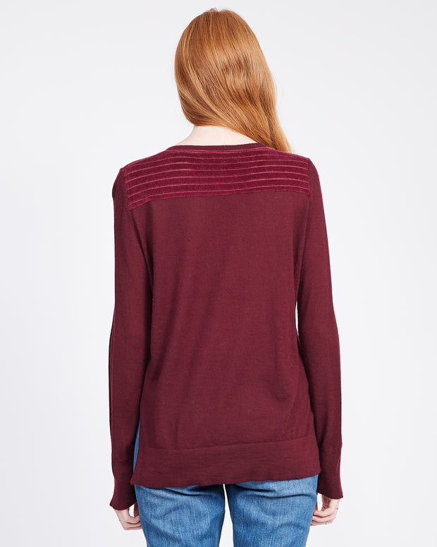 Womens velour sweatshirt