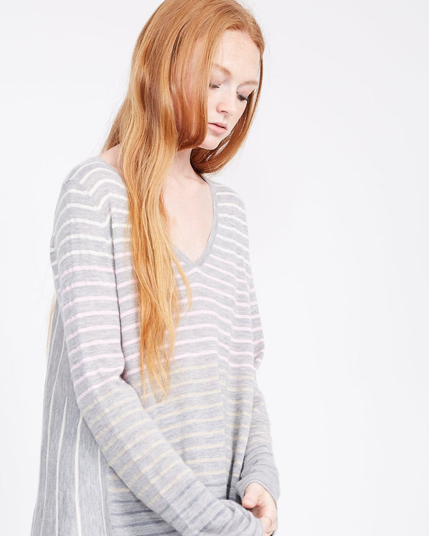 women's striped long sleeve top