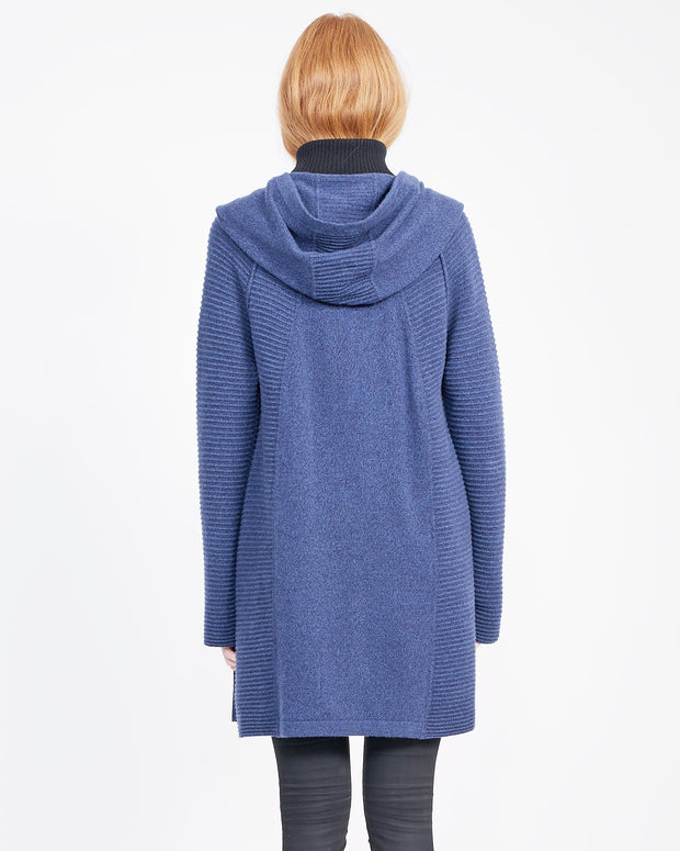 Hooded Cardigan Navy