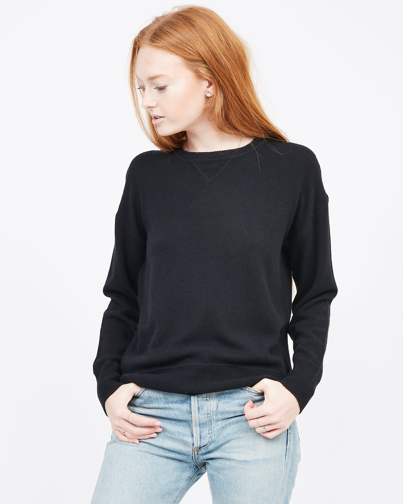 Jersey Stitch Cashmere Pullover