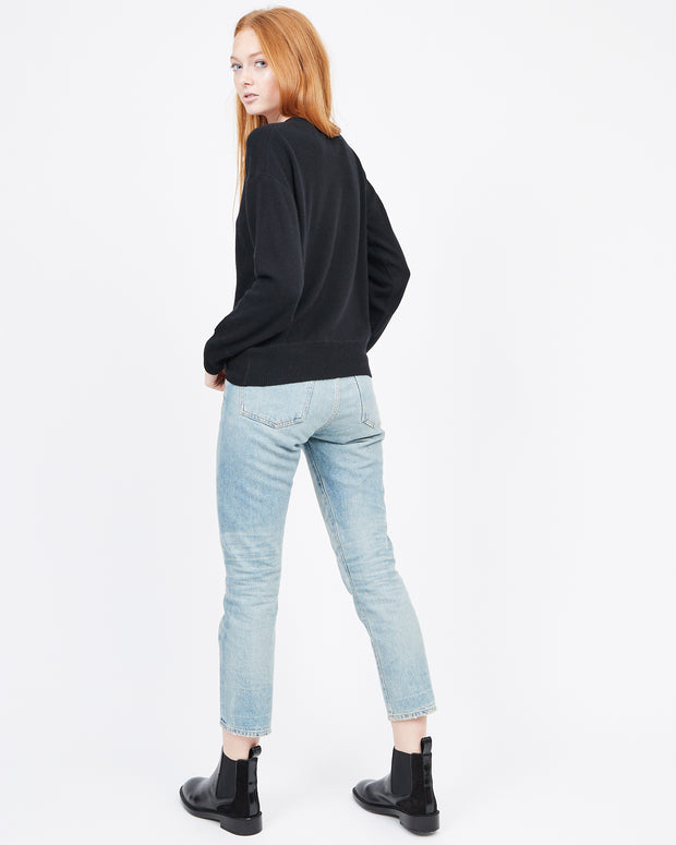 Cashmere Long Sleeve Sweater Black