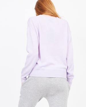 Womens Knit Sweatshirt Pink