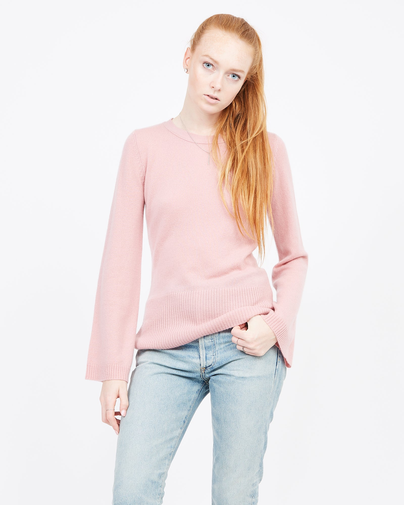 Bell Sleeved crew neck sweater