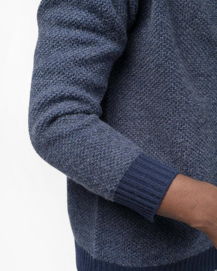 Shawl Collar Sweater w/ Trim
