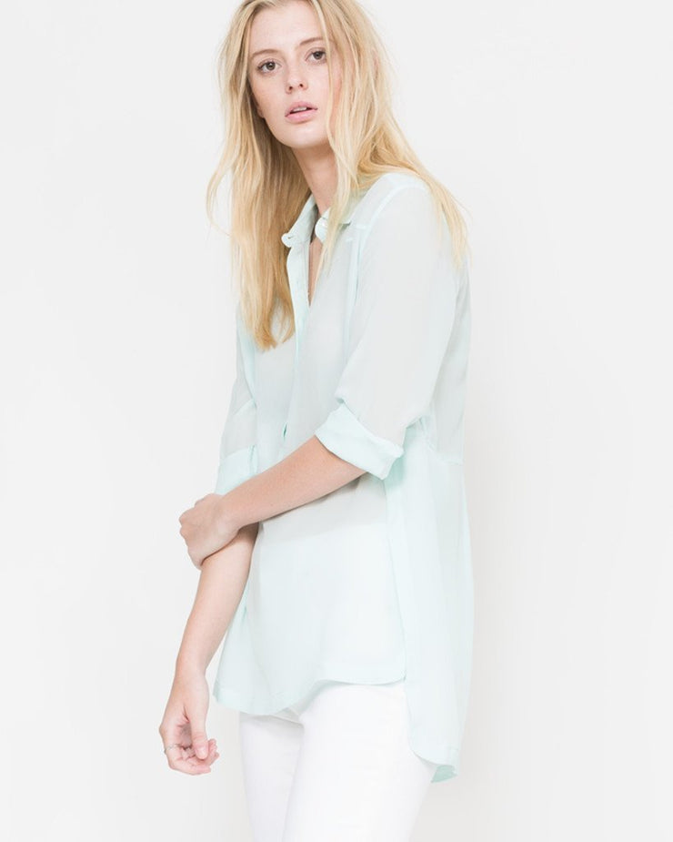 mint button down