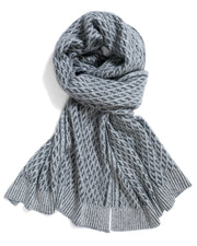 ACCESSORIES - Acadia Faux Cable Shawl