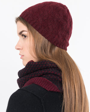 cable knit cashmere hat