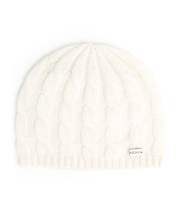 luxury cable knit beanie