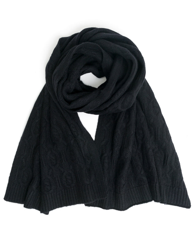 ACCESSORIES - Cable Cashmere Scarf