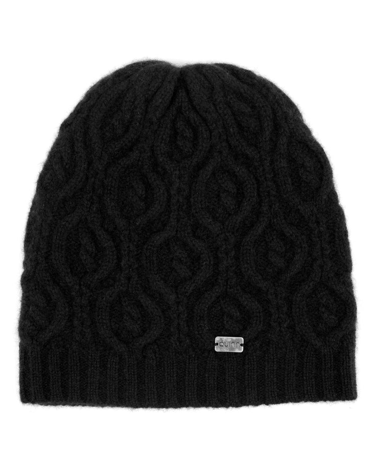 cashmere peacock cable knit hat