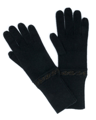 ACCESSORIES - Cable Lurex Cashmere Gloves