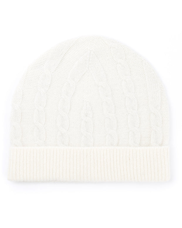 ACCESSORIES - Cable Lurex Cashmere Hat