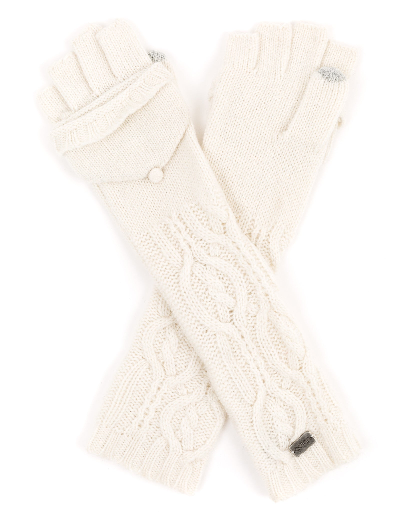 ACCESSORIES - Cable Pop Top Text Gloves