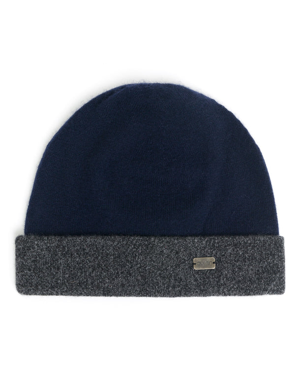 two toned cashmere hat