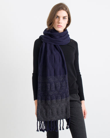 ACCESSORIES - Hale Cable Ombre Scarf