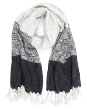 mohair cashmere scarf