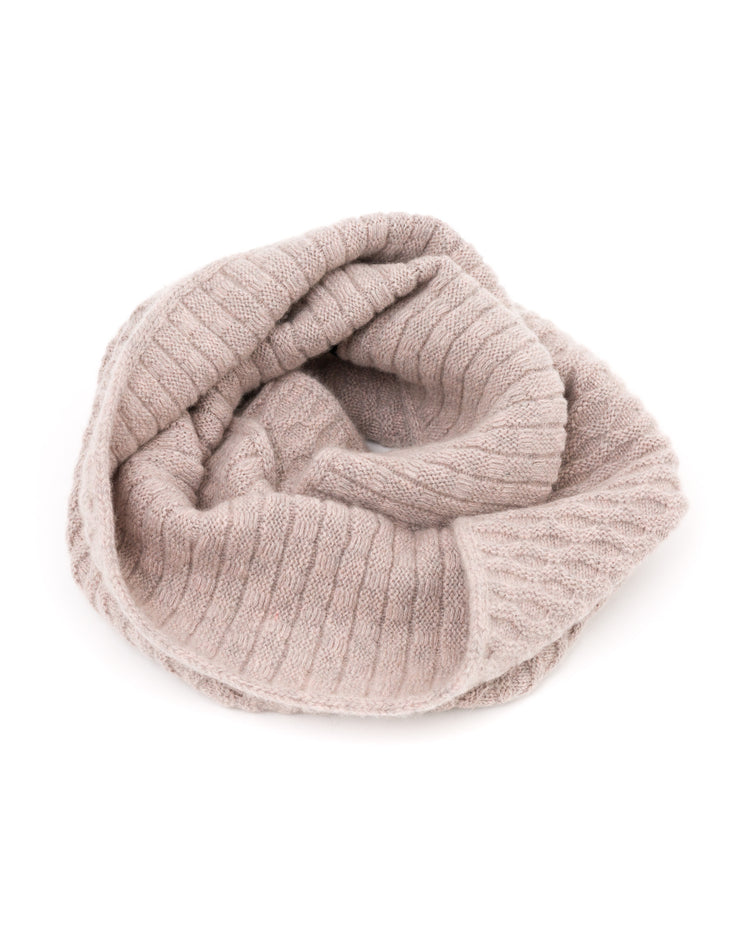 ACCESSORIES - KARA MIXED STITCH INFINITY SCARF