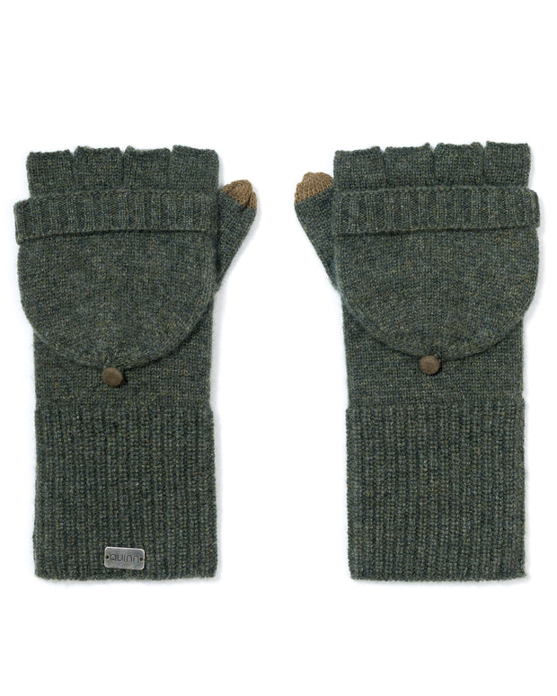 cozy cashmere ribbed gloves
