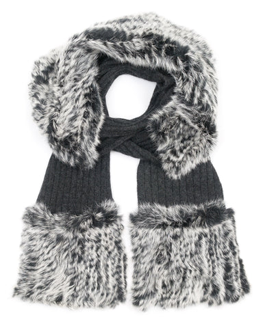 ACCESSORIES - Lucid Fur Blocked Scarf With Pockets
