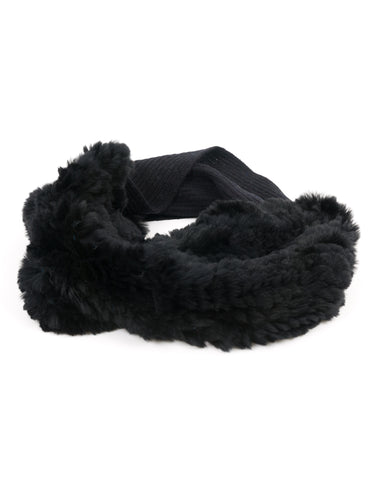 ACCESSORIES - Payge Knit Circle Scarf With Rabbit Fur