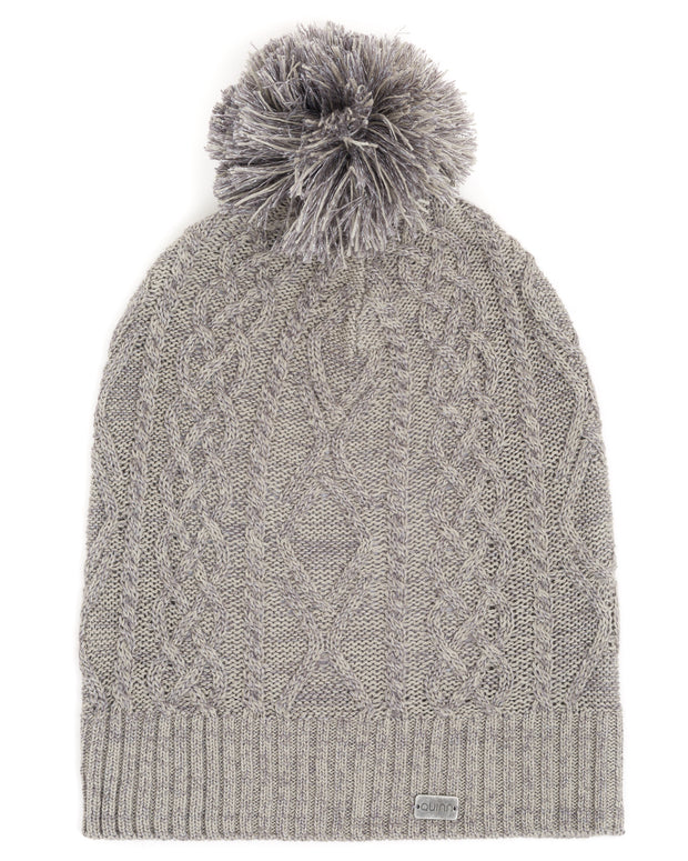 ACCESSORIES - Pom Pom Cable Hat