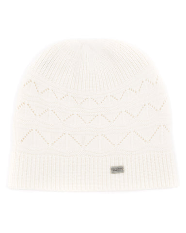 pointelle cashmere hat