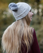 Donegal Cashmere Beanie with Pom Pom
