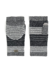 Fairisle striped pop top cashmere Gloves