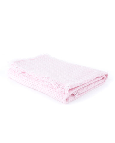Basketweave Layette Baby Blanket