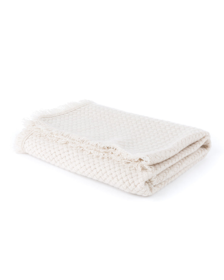 HOME - Basketweave Layette Baby Blanket