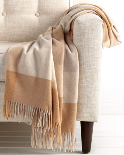 plaid cashmere blanket