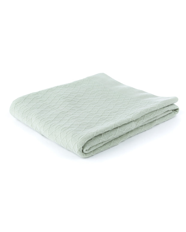 HOME - Lattice Loop Cashmere Throw