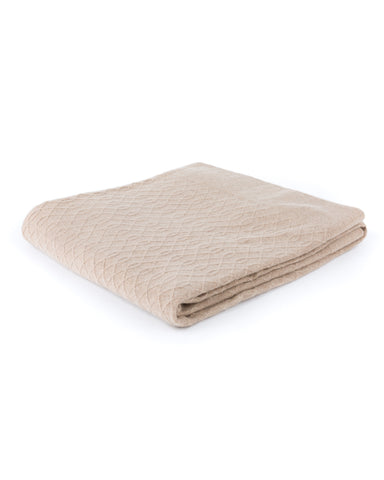 Lattice Loop Cashmere Throw