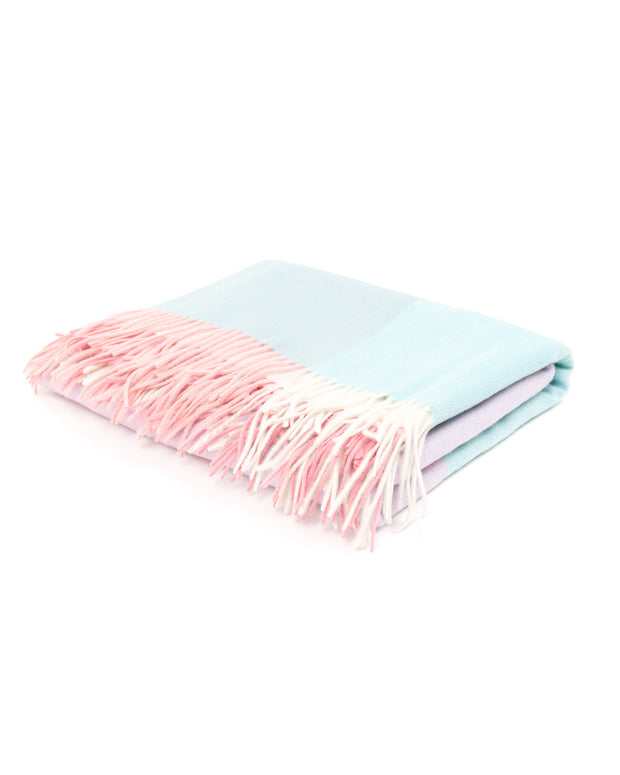 HOME - Pastel Color Block Cashmere Blanket