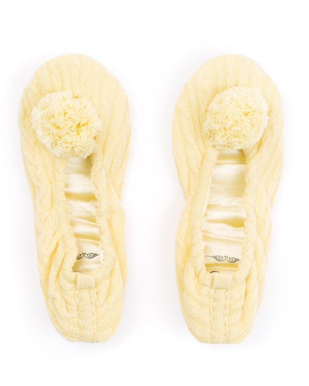 HOME - Pom Pom Cashmere Slippers