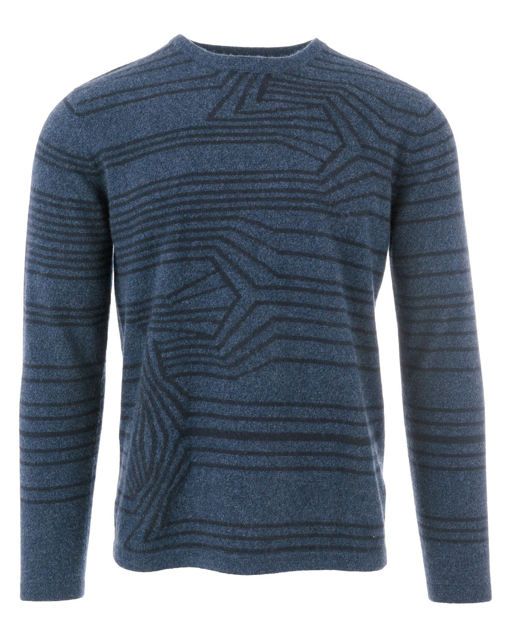 MEN - Richard Stripe Intarsia Crew