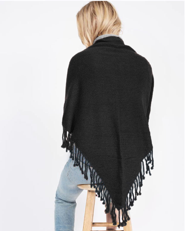 On Dropped Needle Cashmere Scarf