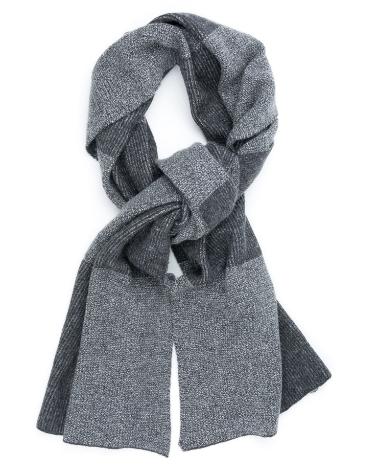 checkered cashmere scarf