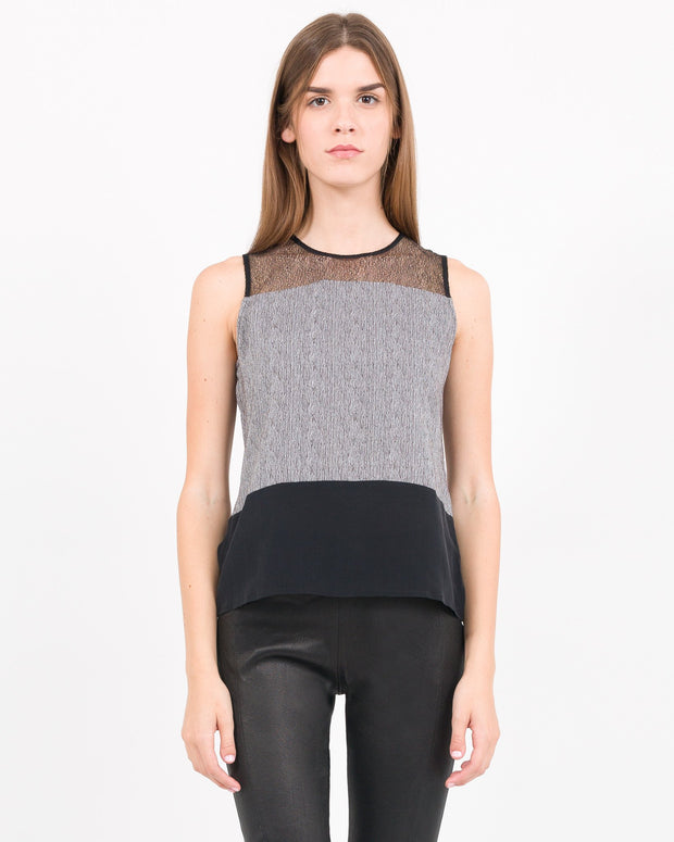 WOMEN - Abbot Paneled Mix Media Tank