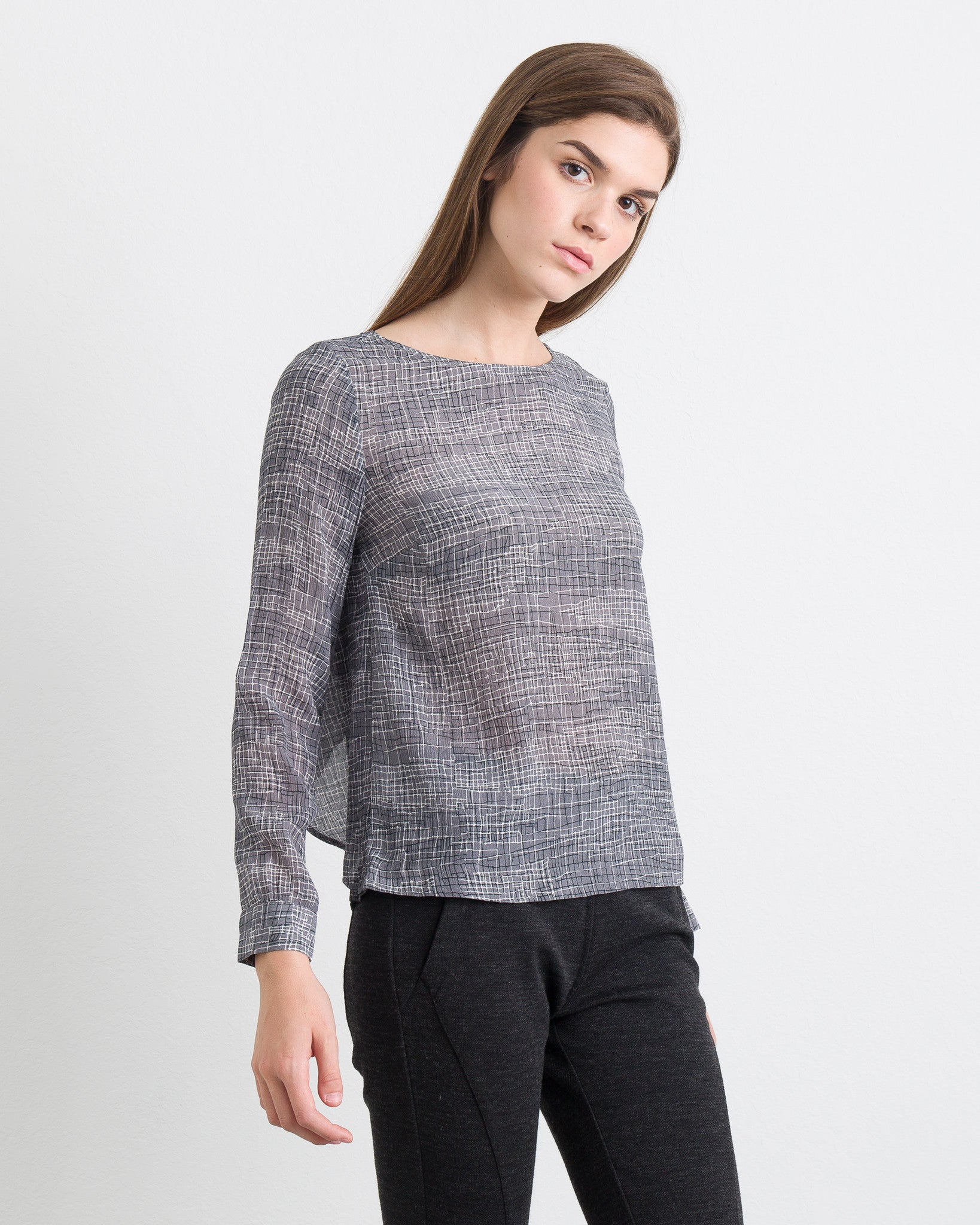 WOMEN - Ashe Blouse With Double Layer Back