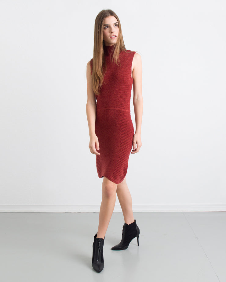 WOMEN - Chloe Paneled Mock Neck Dress