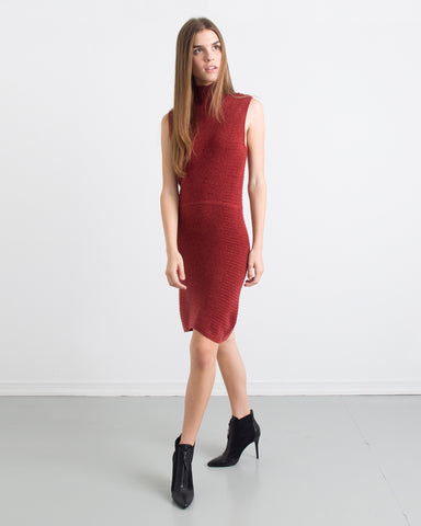 Chloe Paneled Mock Neck Dress