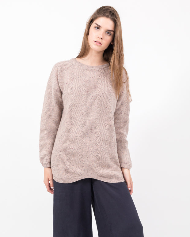 WOMEN - Cortana Cable Sweater Dress