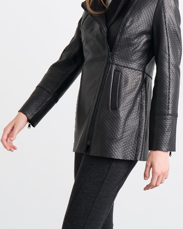 WOMEN - Janet Bonded Leather Coat